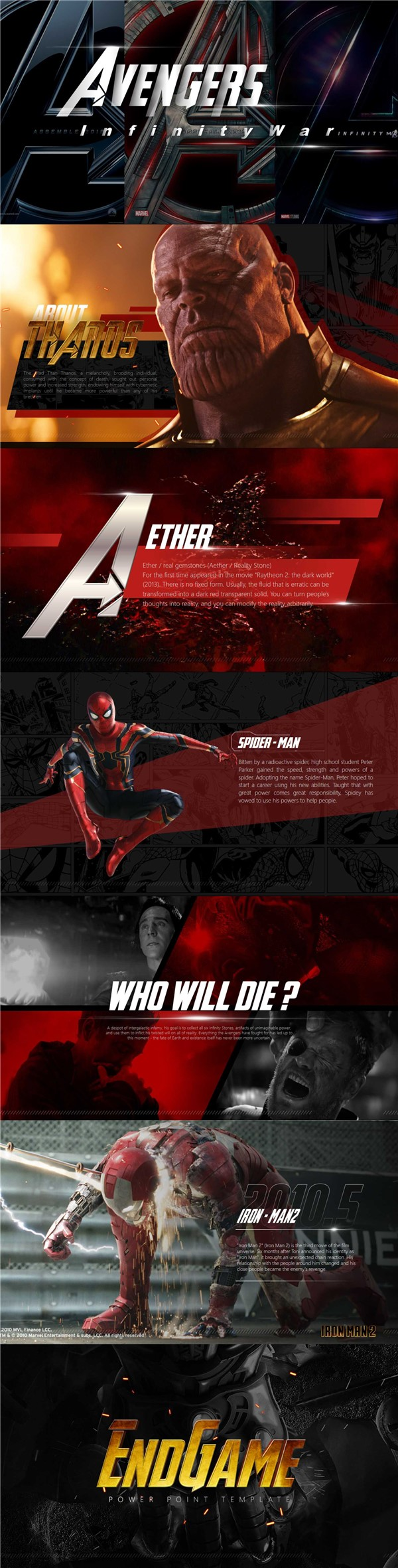 Avengers PowerPoint Template | 🐝 Free Bee