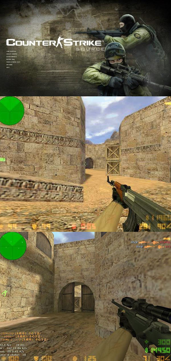 "Unity3d high imitation ""Counter Strike CS 1 6"" game source"